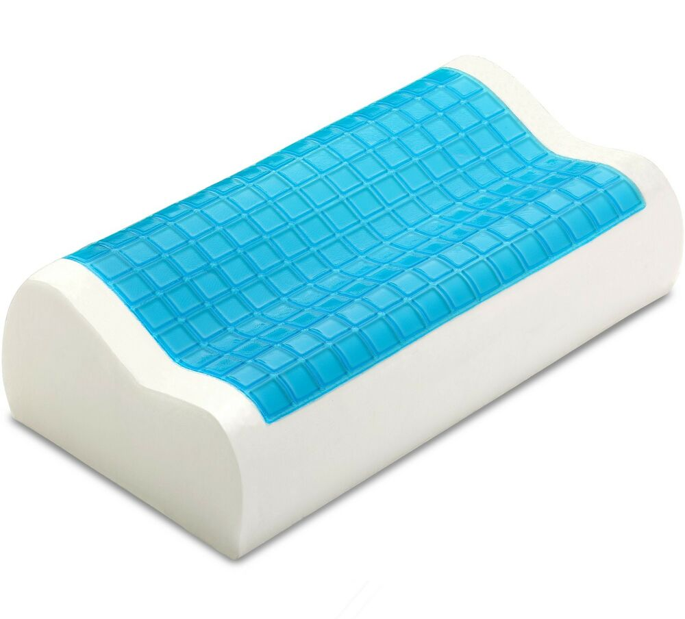 Pharmedoc Contour Memory Foam Comfort Cooling Gel Pillow