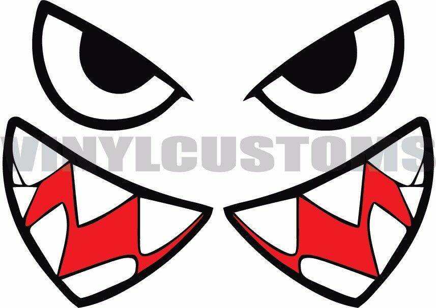 8 Quot Bullet Bill Decal Flying Tigers Shark Teeth Vinyl Decal