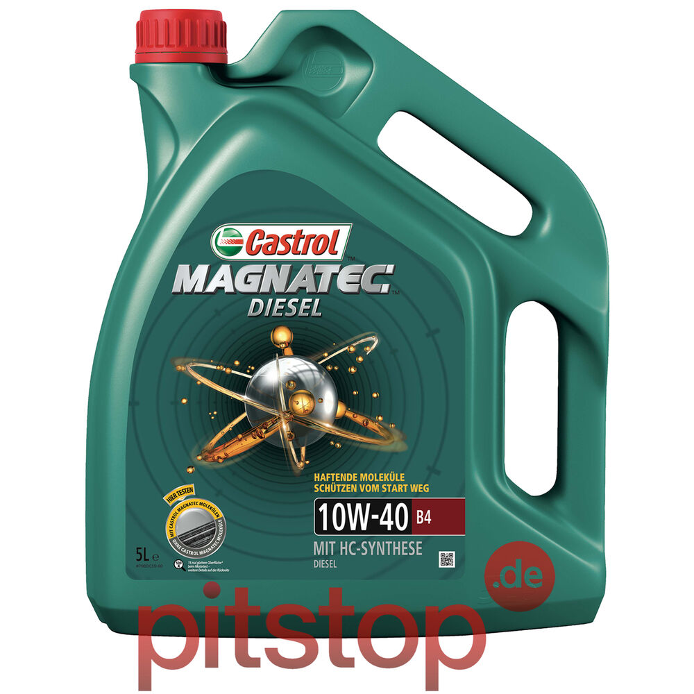 original castrol magnatec diesel 10w 40 b4 5l 5 liter. Black Bedroom Furniture Sets. Home Design Ideas