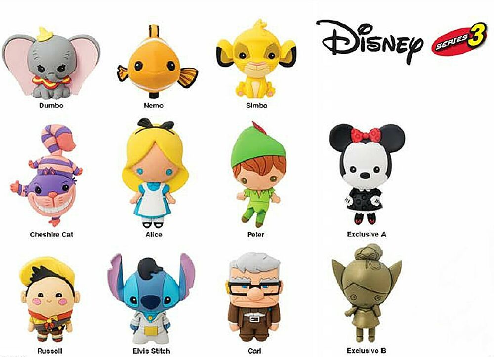 Disney Collectible 3d Figural Keyring Keychain Series 3