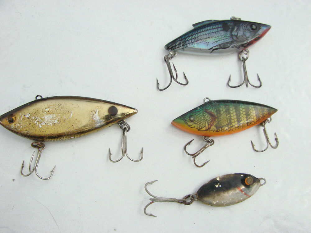 Lot of 4 fishing lures as pictured 1 5 to 3 fish with for 5 3 fishing
