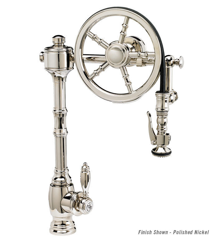WATERSTONE Wheel Pull Down Kitchen Faucet