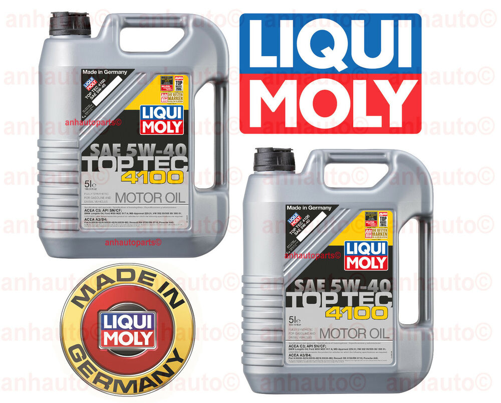 10 liters engine motor oil top tec 4100 5w40 liqui moly. Black Bedroom Furniture Sets. Home Design Ideas