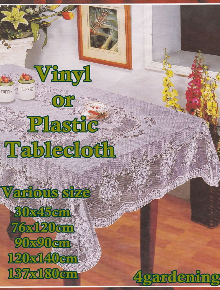 wipe clean pvc vinyl or plastic tablecloth dining kitchen table cover
