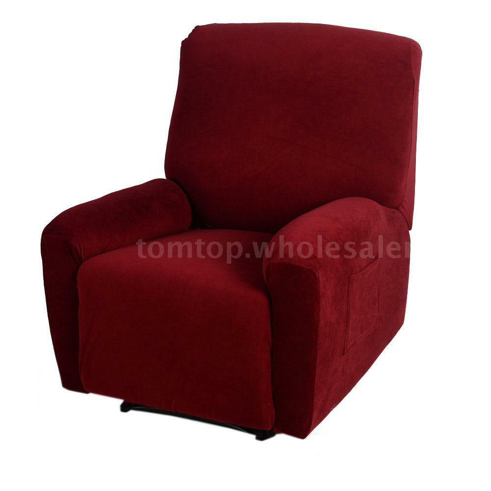 Polyester Spandex Recliner Cover Set Furniture Protector