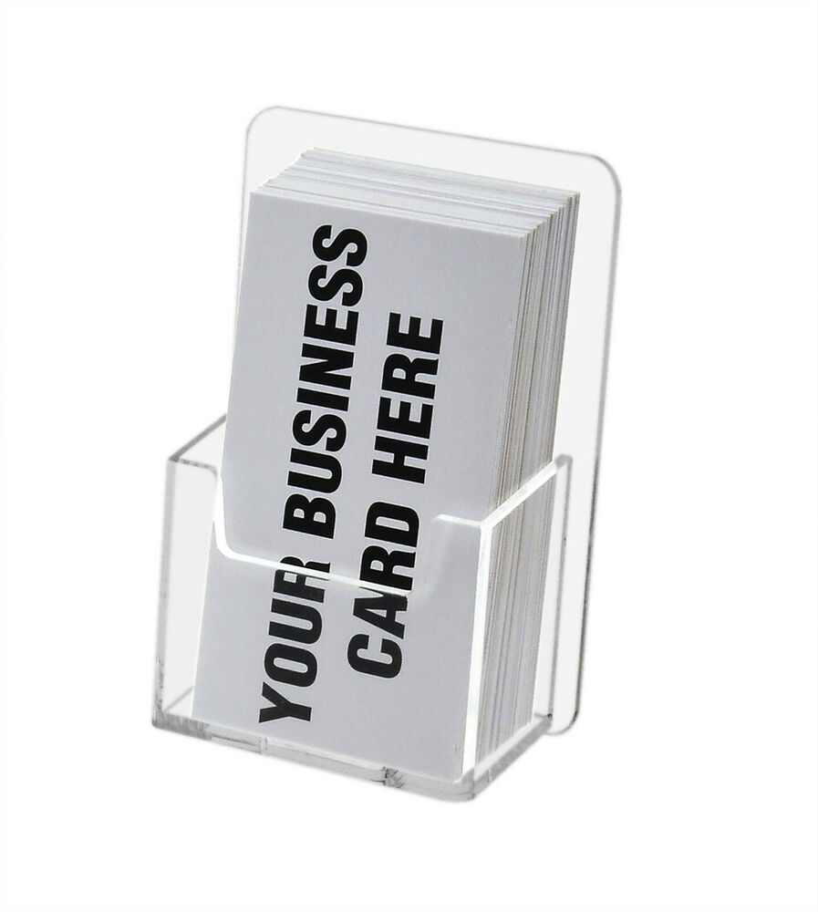 Lot Of 6 Wall Mount Vertical Business Card Holder Display