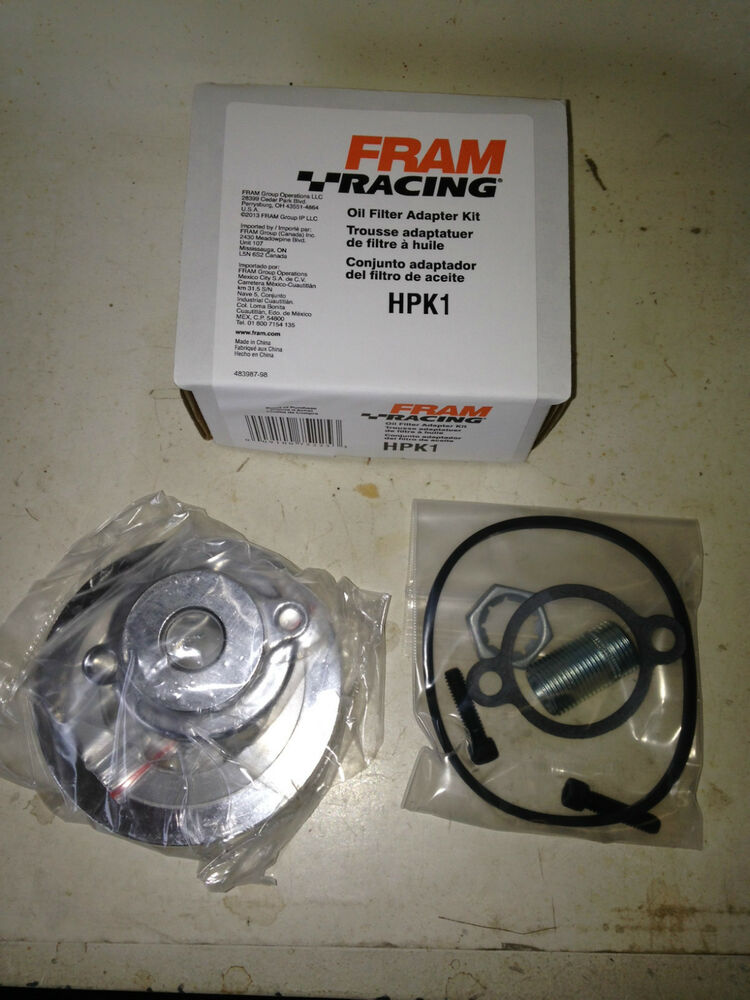 fram hpk1 56 67 chevy oil filter adaptor conversion kit ebay. Black Bedroom Furniture Sets. Home Design Ideas