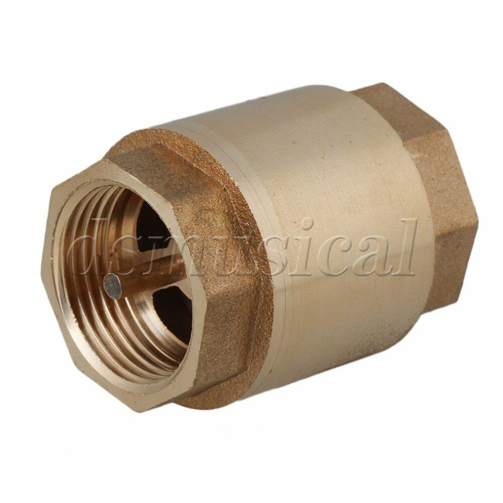 Spring Vertical Water Thread In-Line Check Valve 3/4