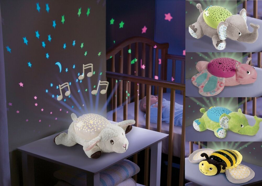 Baby Sleep Soother Musical Night Light Projector Infant ...