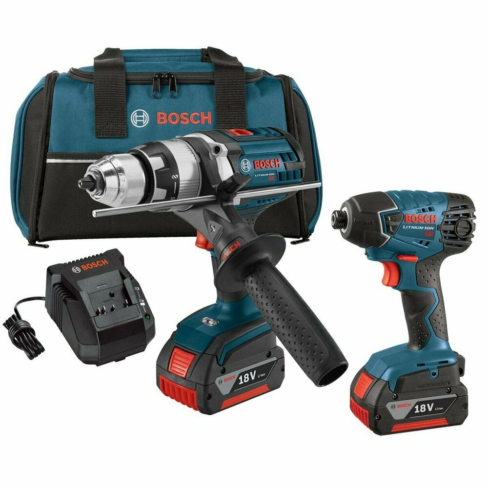 bosch clpk222 181 18 volt 1 2 inch hammer drill driver and. Black Bedroom Furniture Sets. Home Design Ideas