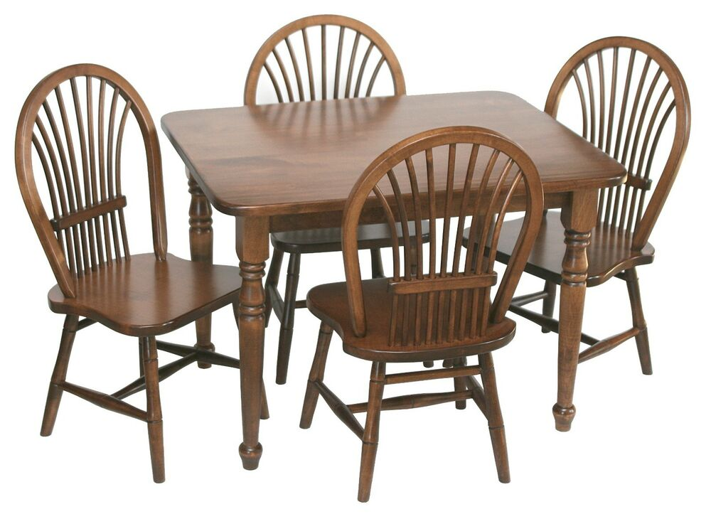amish handcrafted kids toddlers sheaf table and chairs 5 pc set solid wood ebay. Black Bedroom Furniture Sets. Home Design Ideas