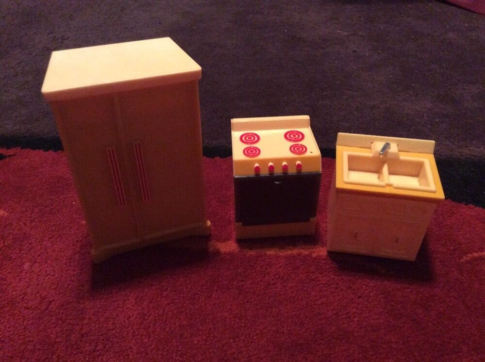 Wolverine Kitchen Appliance Set Vintage 1970 Dollhouse Furniture Plastic Oven Ebay