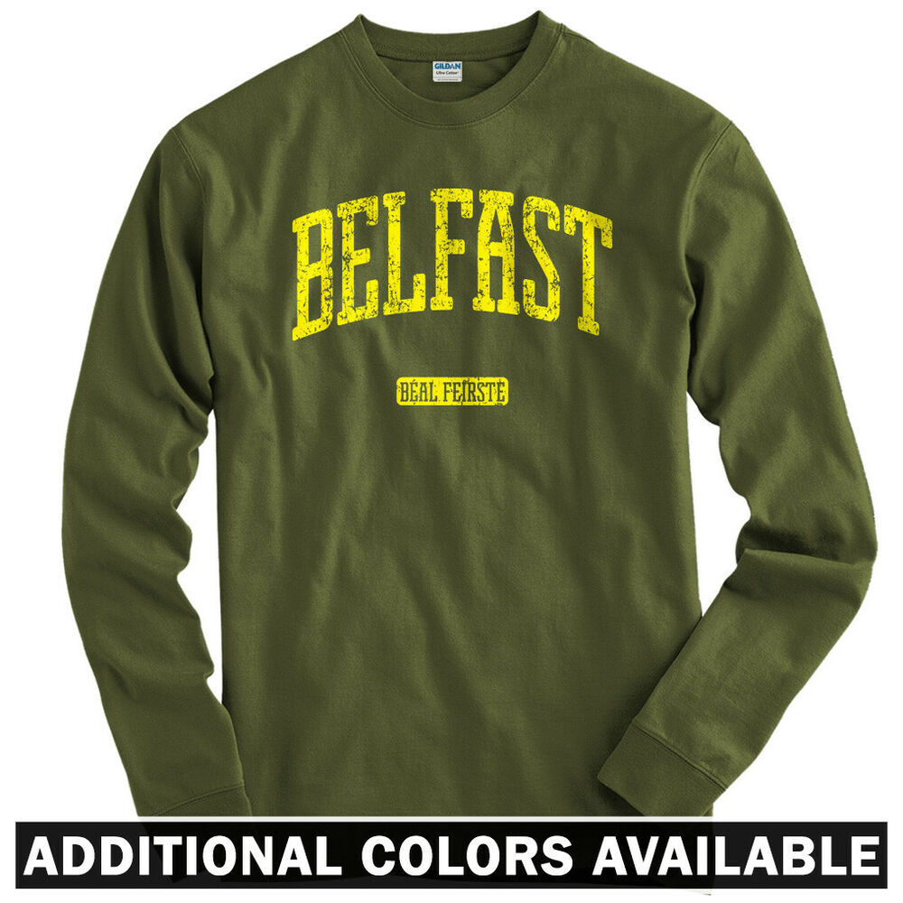 6e9308a0 Belfast Northern Ireland Long Sleeve T Shirt LS Norn Iron Football Men