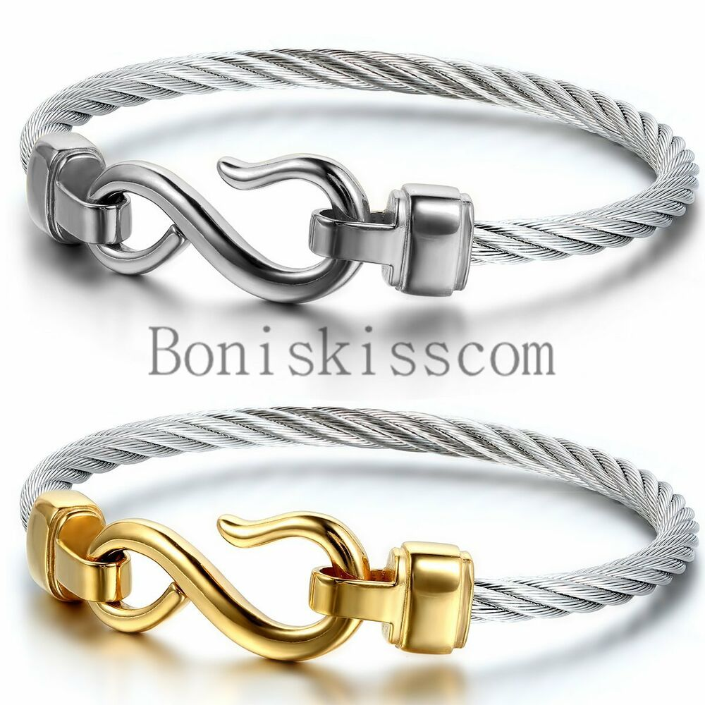 Stainless Steel Bracelet Charms: Love Infinity Symbol Charm Stainless Steel Cable Women's