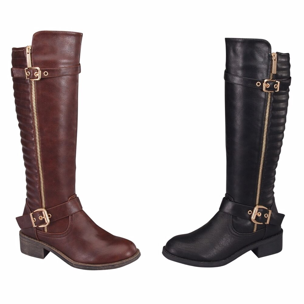 Womens Fashion Knee High Riding Winter Boots Size 5 5 10 Ebay