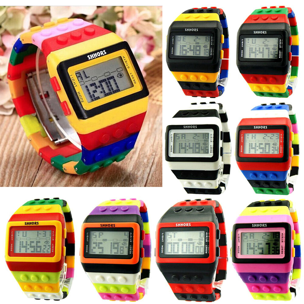 2015 casual colorful digital watches led children unisex