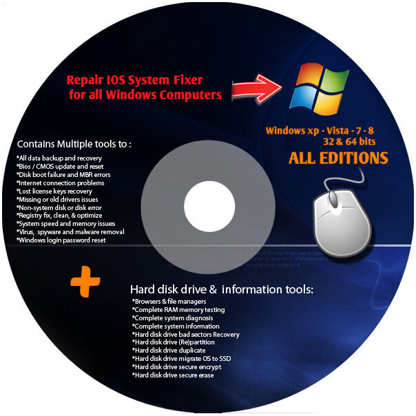 dell ultimate cd computer repair boot cd for windows 7 vista xp ebay. Black Bedroom Furniture Sets. Home Design Ideas