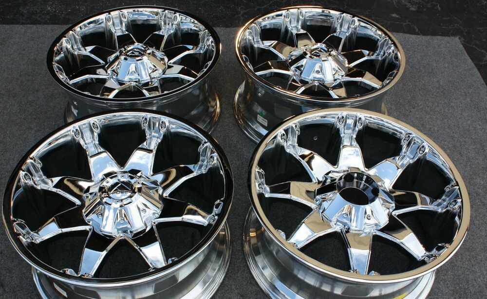 "Ford F150 Oem Wheels >> FUEL OCTANE WHEELS Ford F150 RIMS 20x9"" Chrome SET OF 4 NEW OFF ROAD -12 offset 