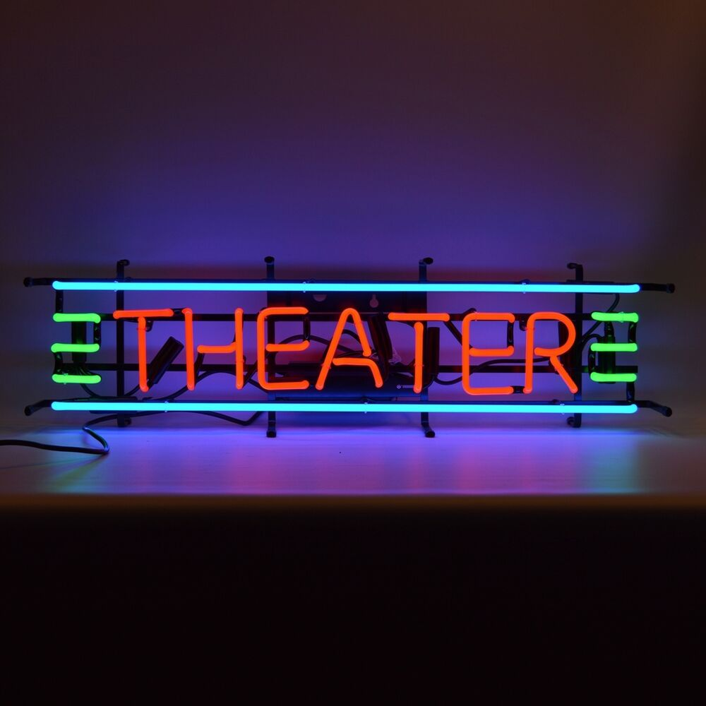 Neon sign theater gameroom game room wall shelf lamp light for Room decor neon signs