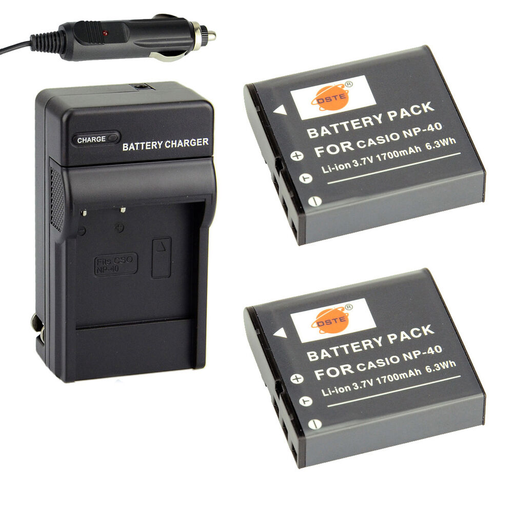 Dste 2x Np 40 Battery Charger For Casio Ex Z40 Z50 Z55