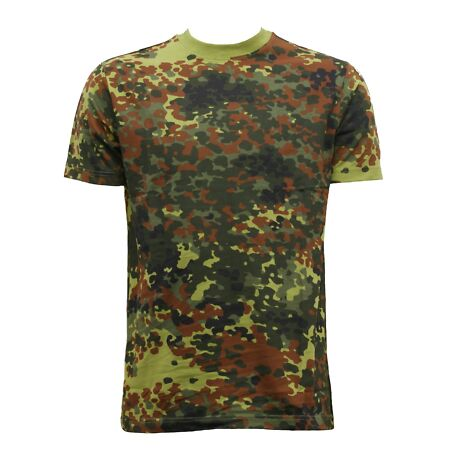 img-NEW COMBAT MILITARY GERMAN ARMY STYLE FLECKTARN CAMOUFLAGE T-SHIRT TOP XS- 3XL