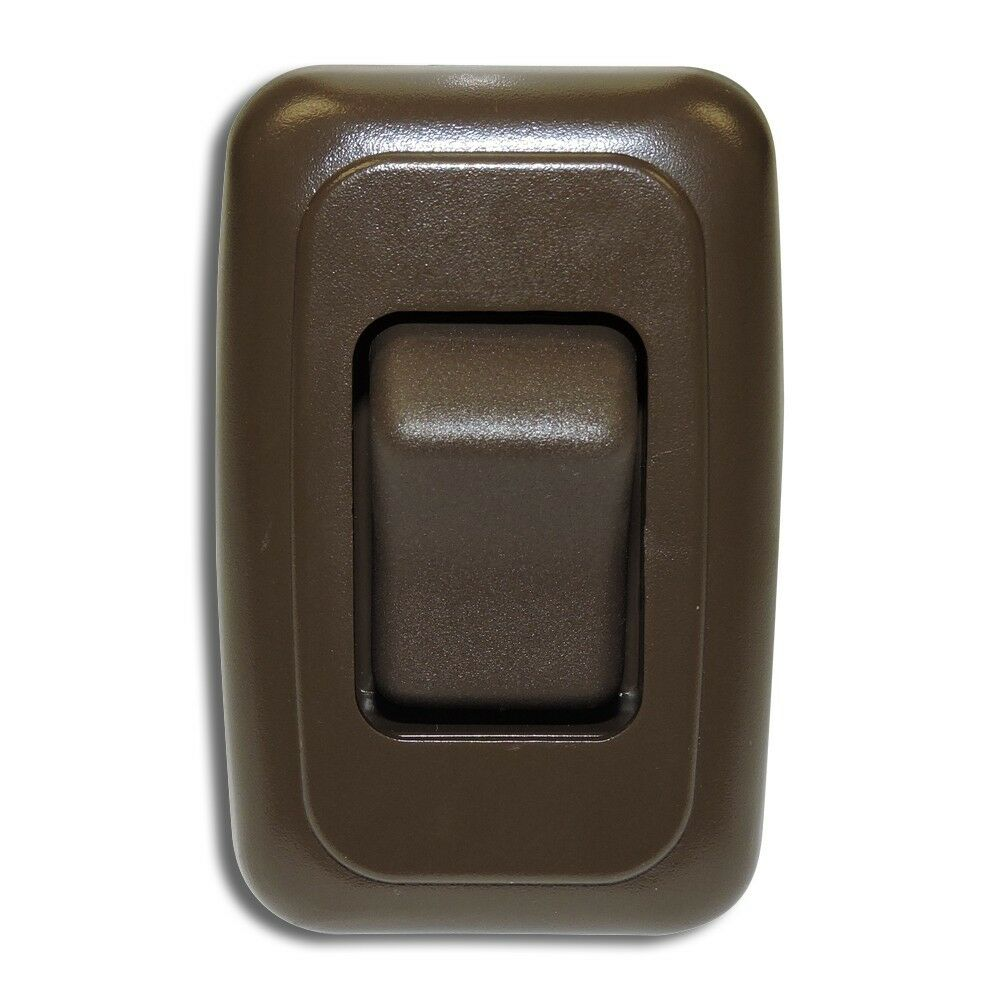 Single 1 Gang On-off 12 Volt Brown Light Switch
