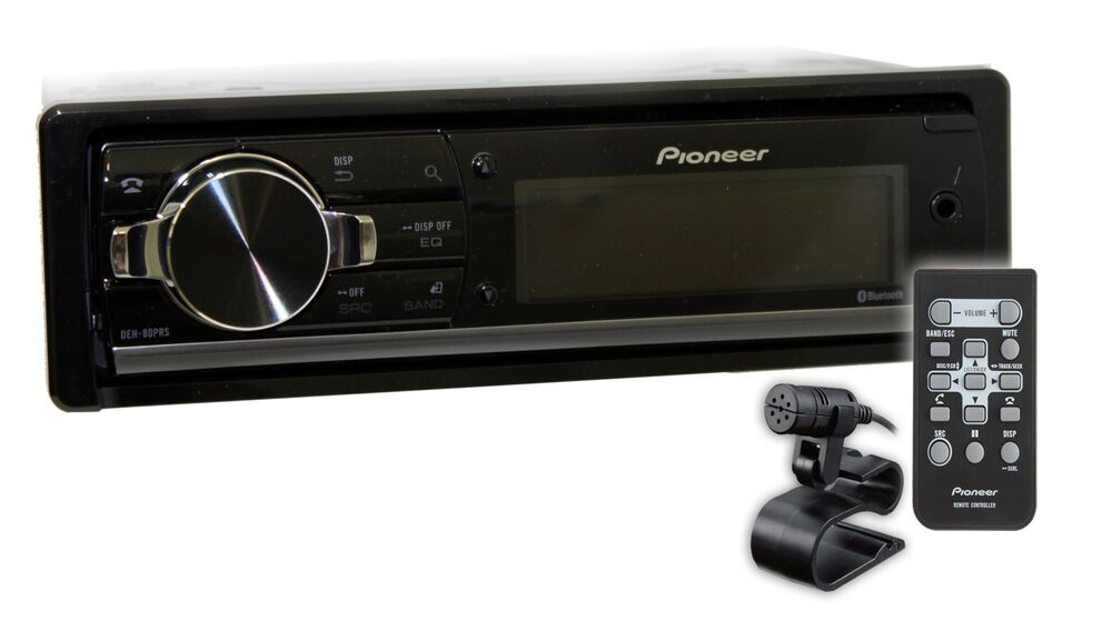 new pioneer deh 80prs audiophile cd mp3 wma bluetooth. Black Bedroom Furniture Sets. Home Design Ideas