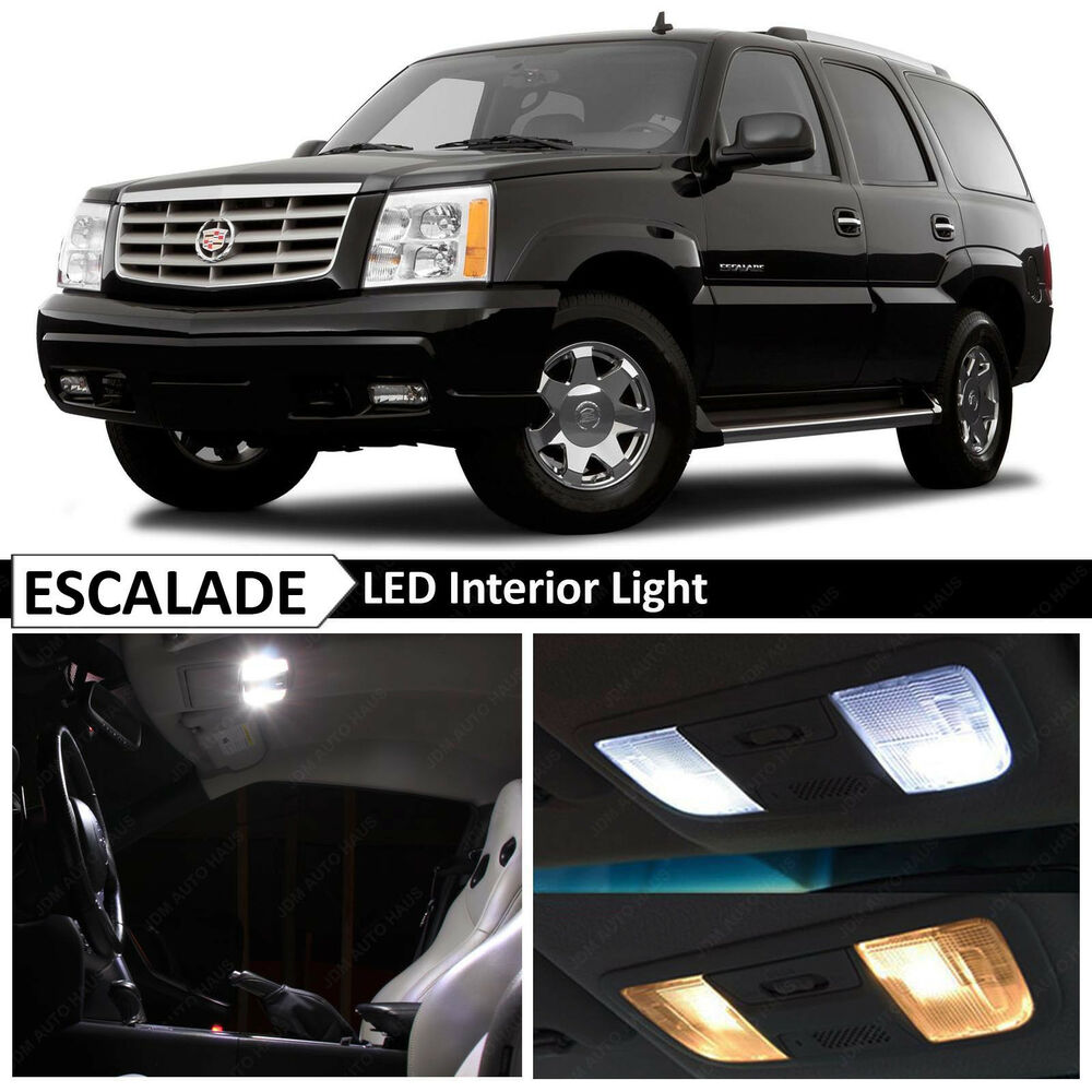 16x white interior led lights package for 2002 2006 - 2003 cadillac escalade interior parts ...