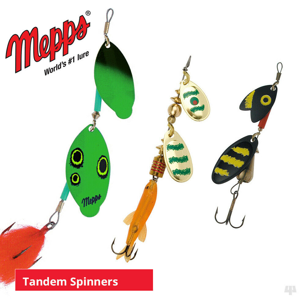 Mepps tandem spinners lures sea trout pike perch for Mepps fishing lures