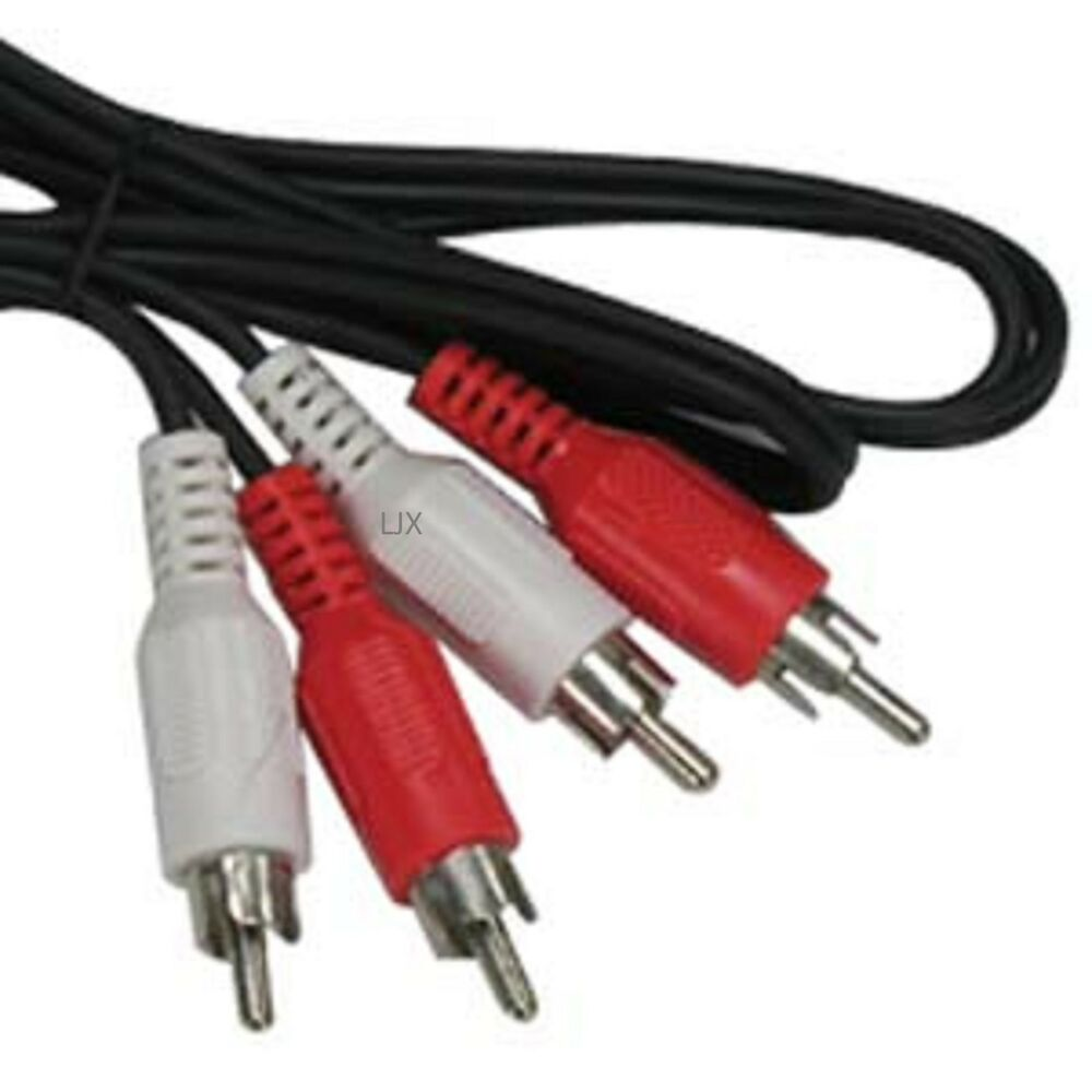 Dual 2 Rca Audio Dubbing Cables 50 Ft Foot Stereo Tv