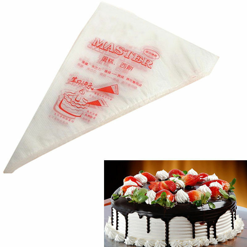 Professional Cake Decorating Bags : 100 Disposal Plastic Cake Piping Bag Icing Cream Pastry ...