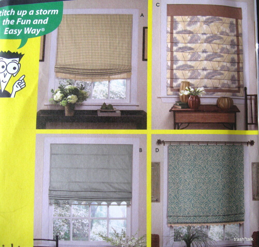 Home Decor Pattern Sewing For Dummies WIndow Treatment