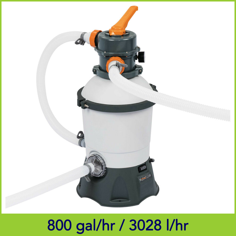 530gph Bestway Flowclear Sand Filter Pump 58397 For Above