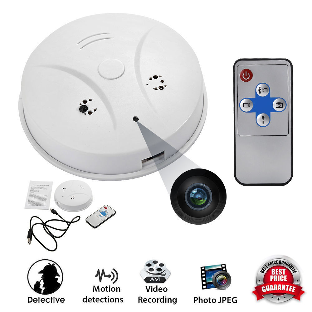 32gb spy camera cam smoke alarm detector dvr video recorder nanny hidden motion ebay. Black Bedroom Furniture Sets. Home Design Ideas