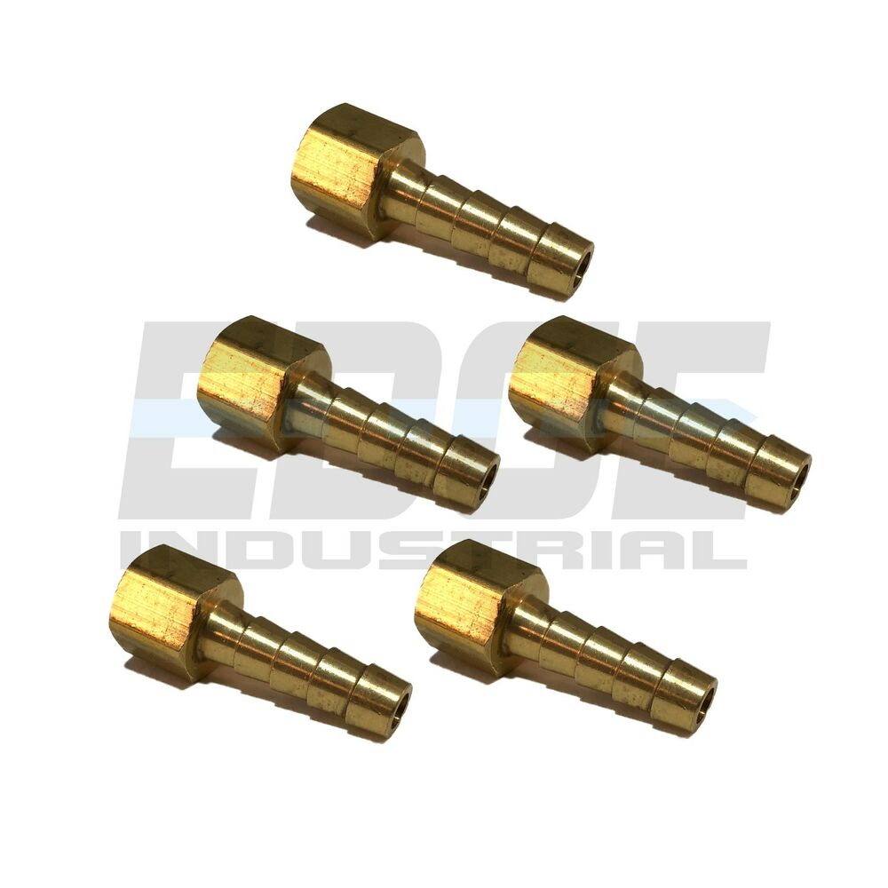 Pieces hose barb female npt brass pipe