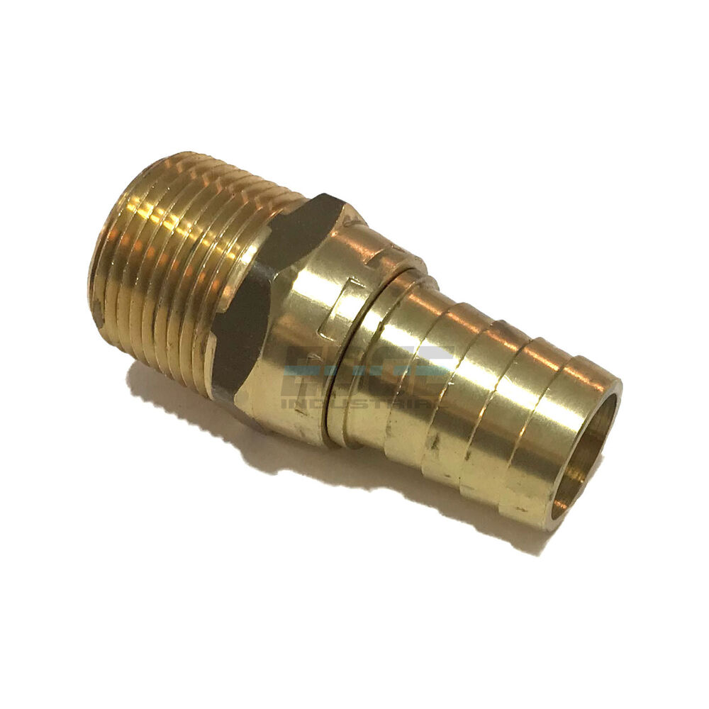 3 4 swivel hose barb x 3 4 male npt brass pipe fitting npt gas fuel water air ebay. Black Bedroom Furniture Sets. Home Design Ideas