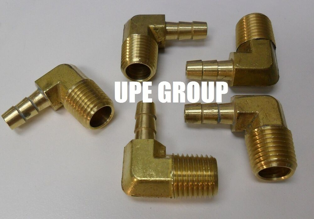 Pieces hose barb elbow male npt brass pipe