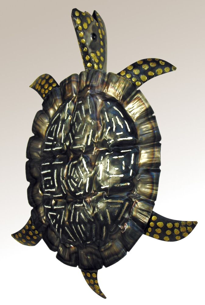 Sea Turtle Wall Sconce Tin Hand Punched Lighted