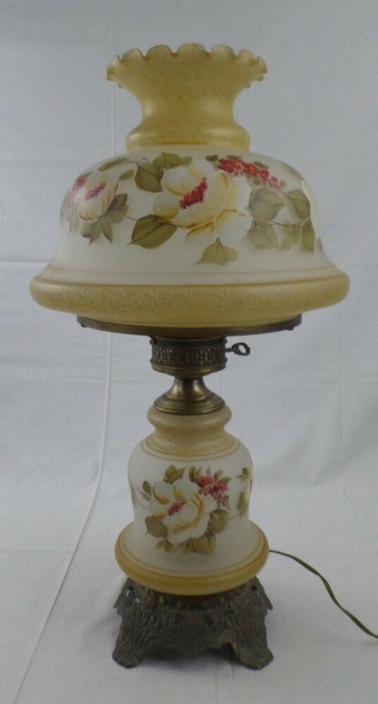 Vintage Quoizel Floral 2 Light Gone With The Wind