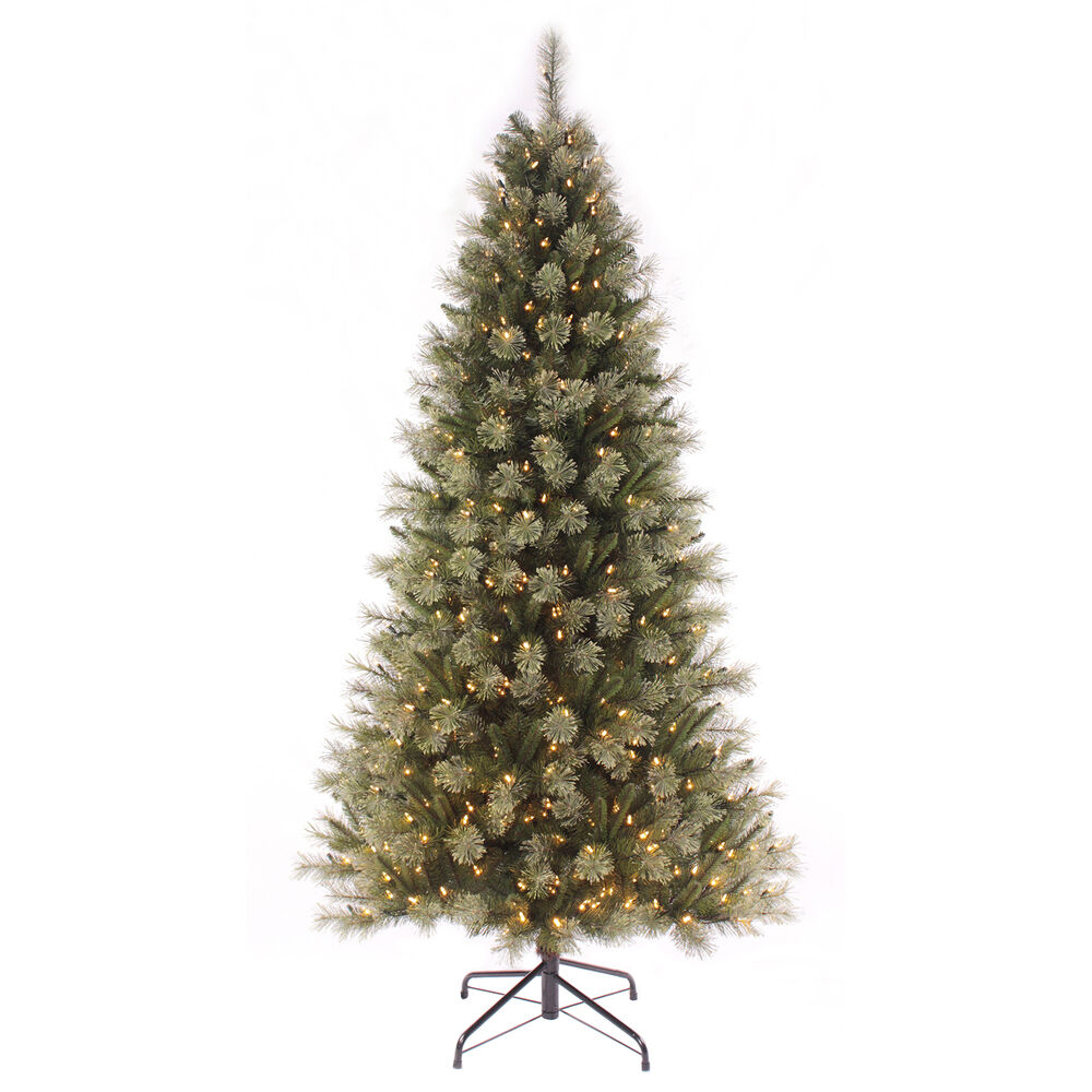 Pre Lit Led Lights Christmas Tree: 7ft Pre-lit Christmas Tree With Warm White LED Lights