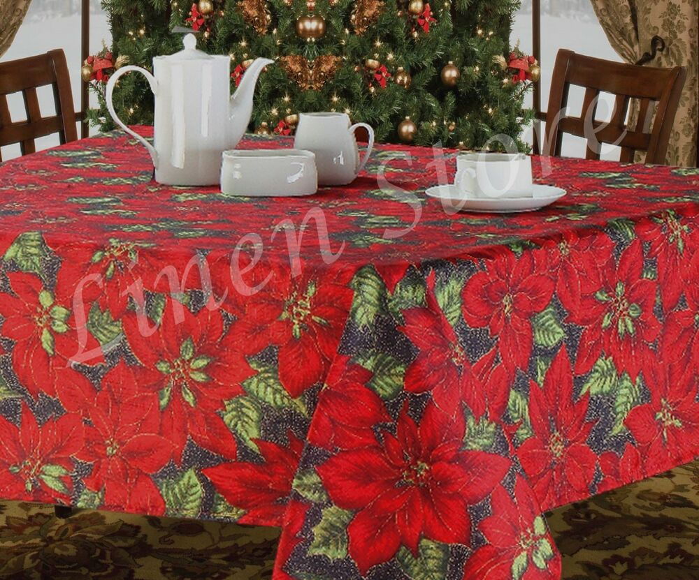 Vinyl Christmas Tablecloths Flannel Backed