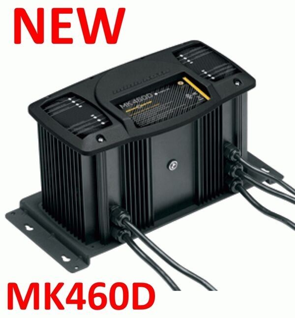 new minn kota mk460d 4 bank on board marine battery charger 60 amp waterproof ebay. Black Bedroom Furniture Sets. Home Design Ideas