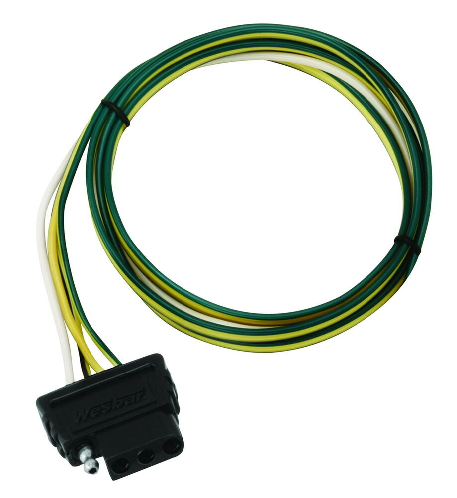 wesbar 707275 boat utility trailer 4 way trunk car end wire harness connector ebay