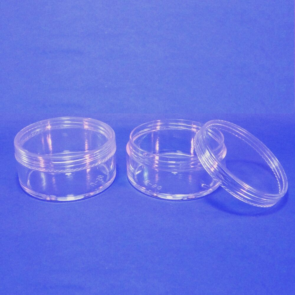 Cosmetic Clear Jar Container Plastic Makeup Packaging 50