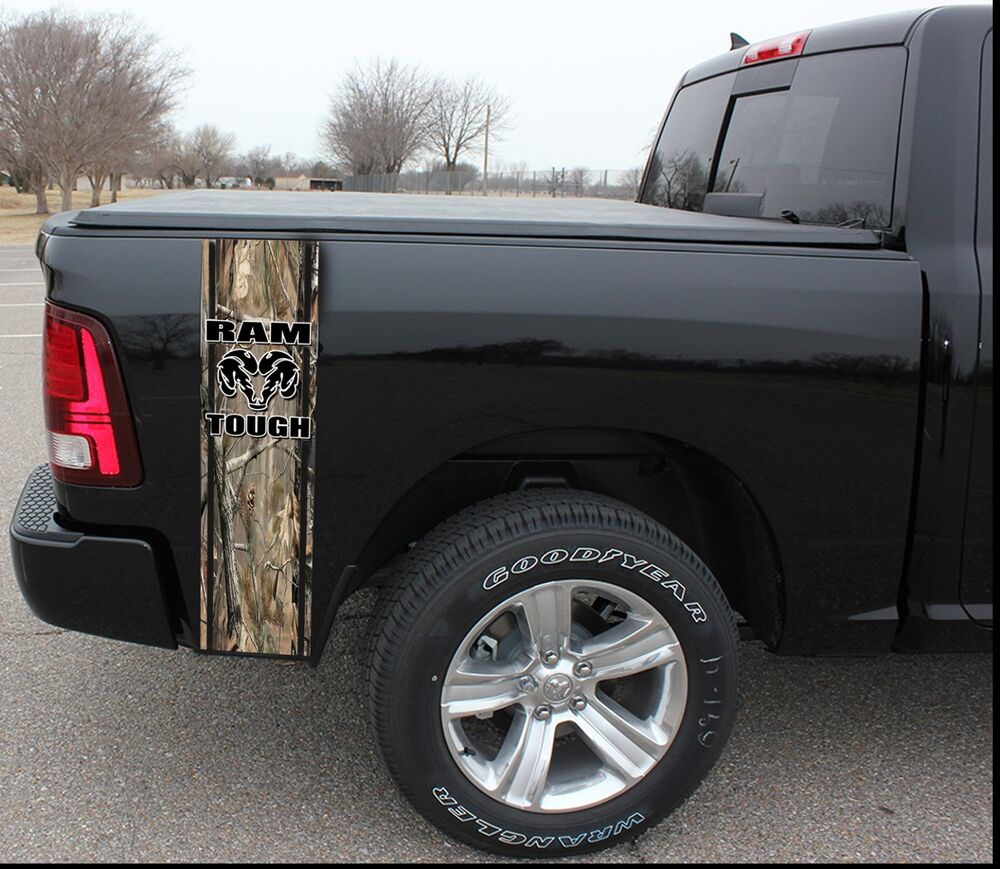Camo Truck Bed Band Stripes Decal Sticker Graphics Dodge Ebay