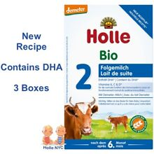 Holle Stage 2 Organic Formula 600g, 12/2019 - 3 BOXES FREE EXPEDITED SHIPPING