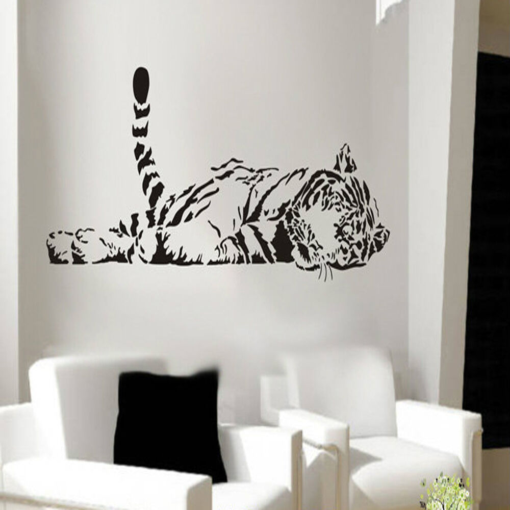 Animal Tiger Relaxing Wall Sticker Waterproof Home Decal