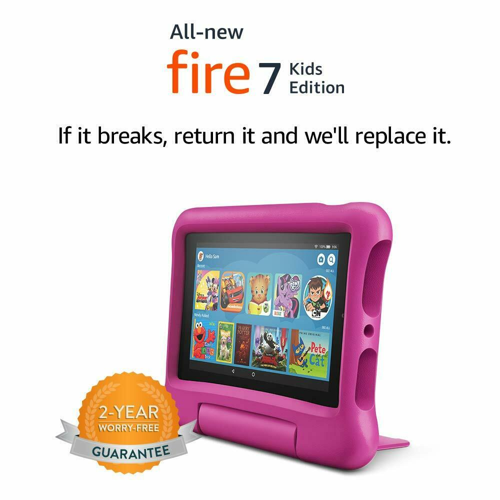 Amazon Fire Pink Kids Edition Kindle 7 in Wi-Fi 16 GB
