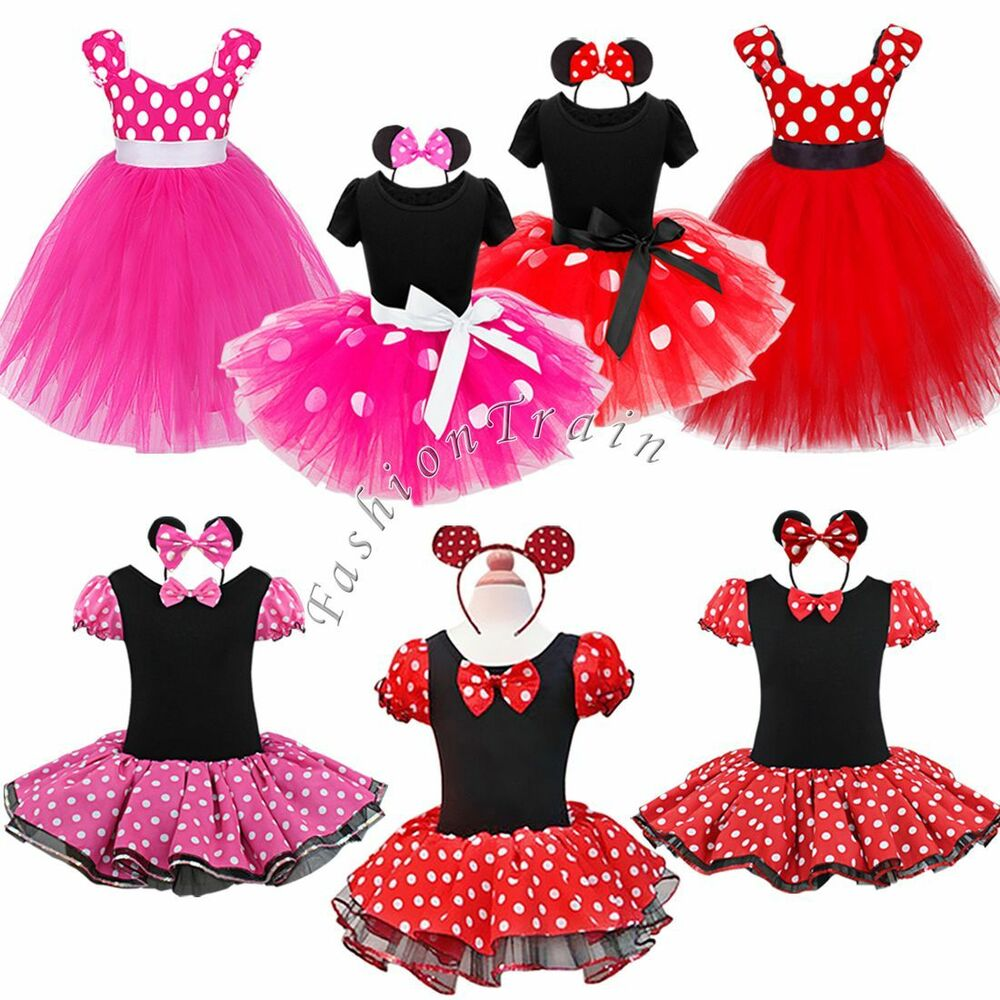 Baby Toddler Girl Kid Minnie Mouse Costume Party Outfit