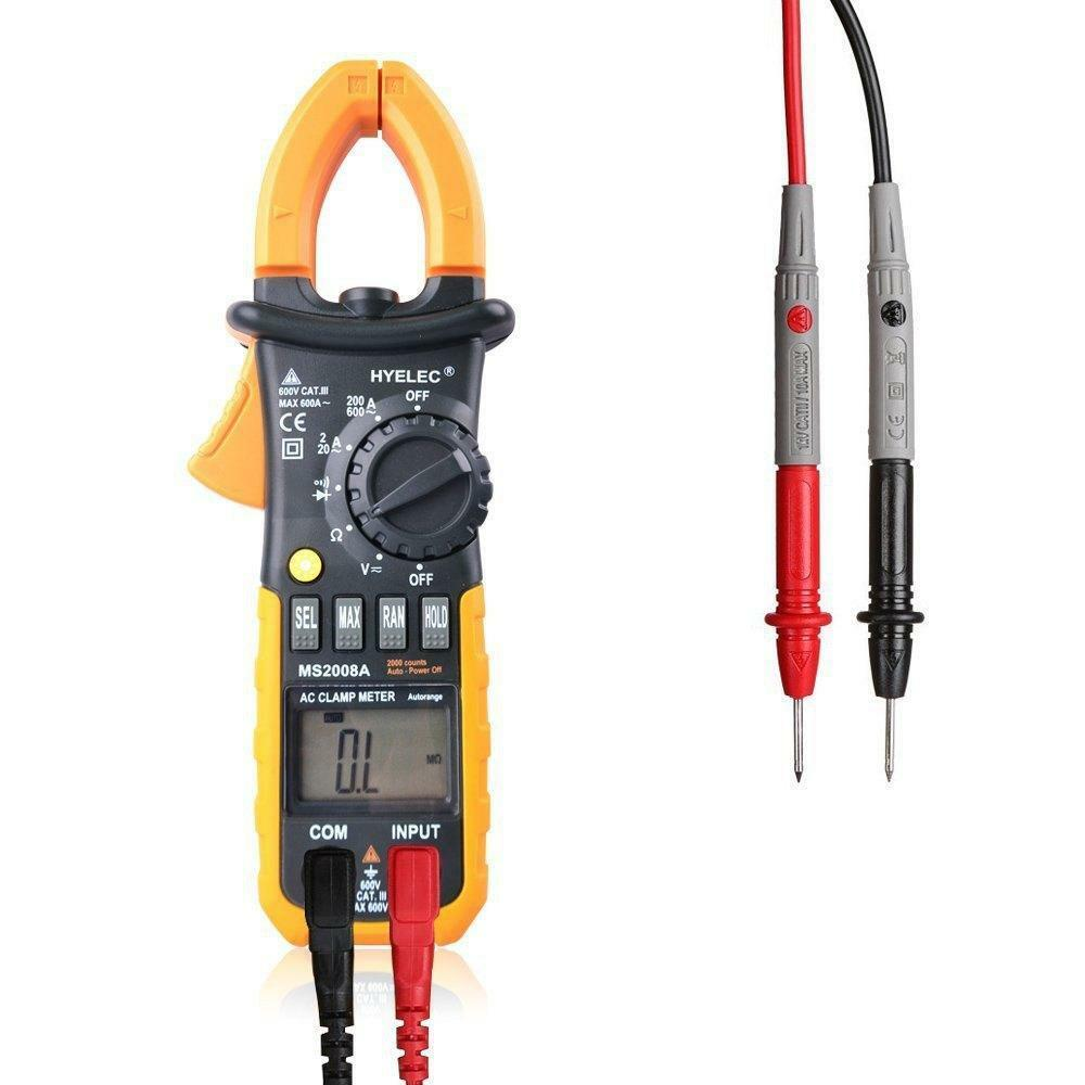 Can A Clamp Meter Measure Amps : Digital clamp meter multimeter tester amp volt ohm test